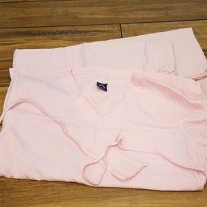 Light pink fashion scrubs